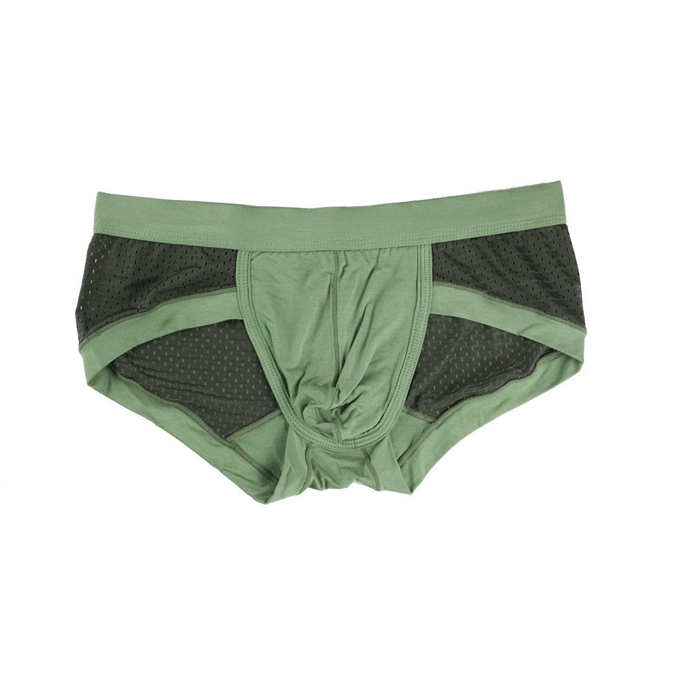 Gibobby Men's Briefs, Boys Low Waist Mesh Boxers Briefs Pouch Panties Underpants Comfortable Shorts Thongs Army Green