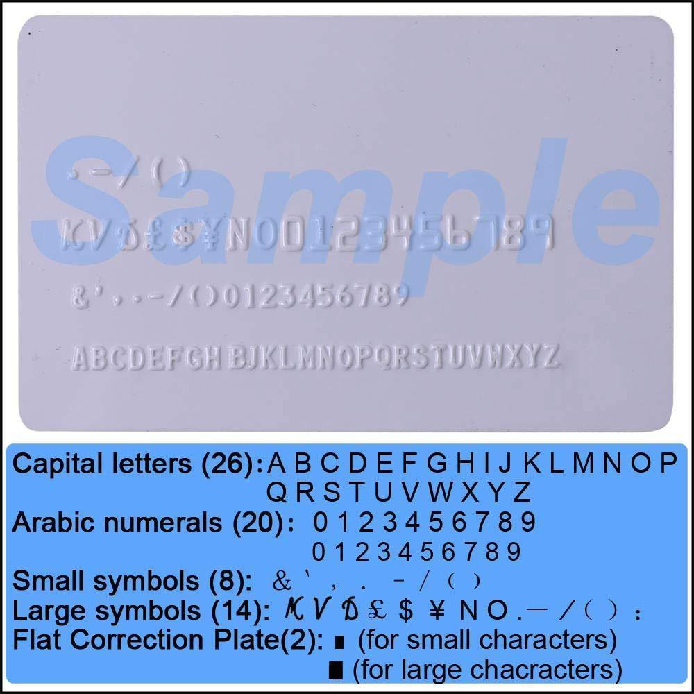 PVC Plastic Credit Card Embosser Embossing Machine 70-Character Manual Punch Handle Stamping for VIP Club Gift Membership Cards