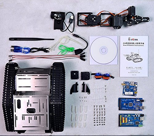 XiaoR Geek FPV Robot Car Kit with Robotic arm Hd Camera for Arduino,Utility Intelligent Tank chassis Robotics Vehicle,Smart Learning & Educational TH Robot Toys by iOS Android PC Controlled by XiaoR Geek (Image #5)