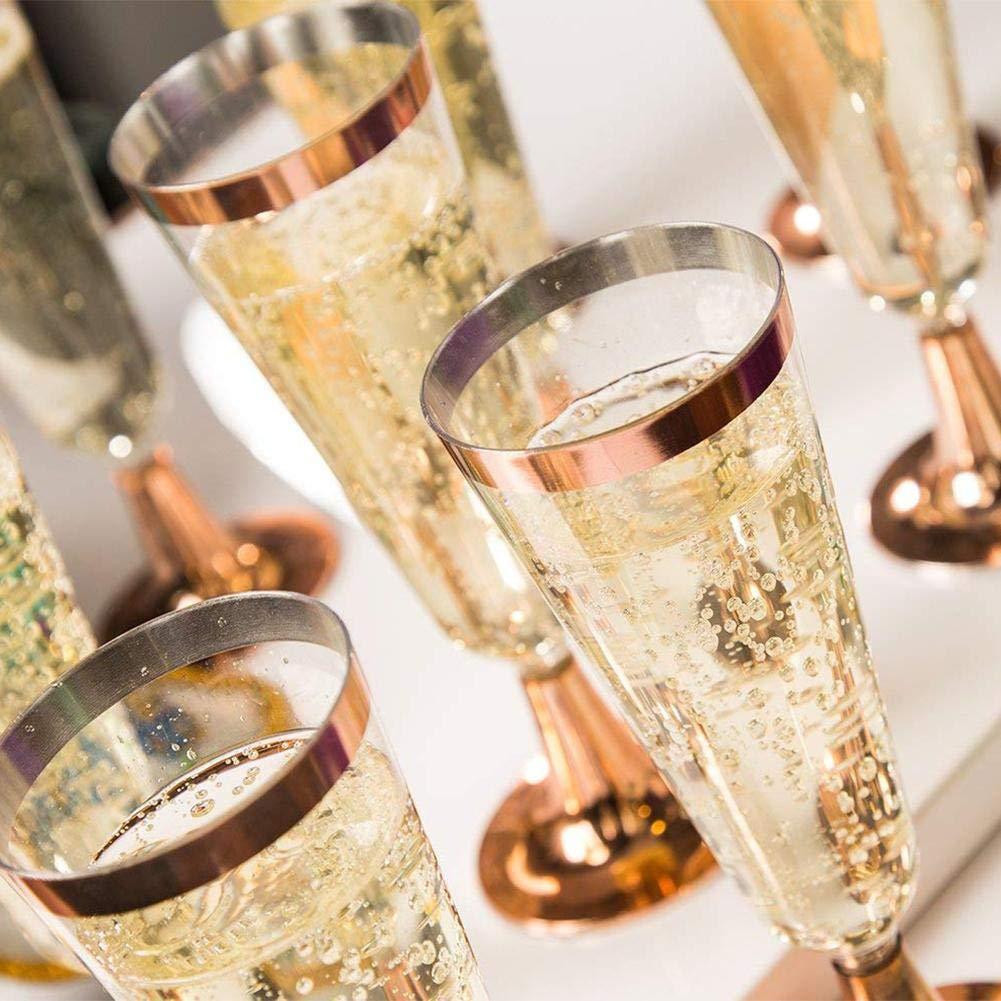 Oshide 6 st/ücke Einweg Kunststoff Rotwein Glas Champagner Fl/öte Cocktail Glas Party Trinken Tasse Westlichen K/üche Tasse
