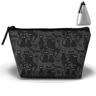 CHC40 Halloween Cats Eyes On You Cosmetic Bag, Portable Travel Makeup Case Pouch Toiletry Wash Organizer.