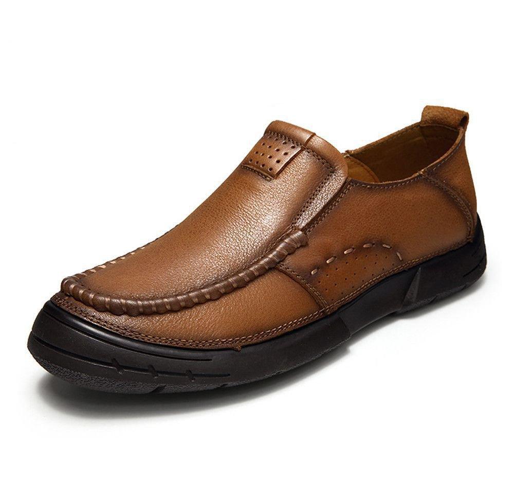 Men 's casual hombres zapatos de cuero, zapatos de cuero,Brown,Treinta y ocho 38|Brown Brown