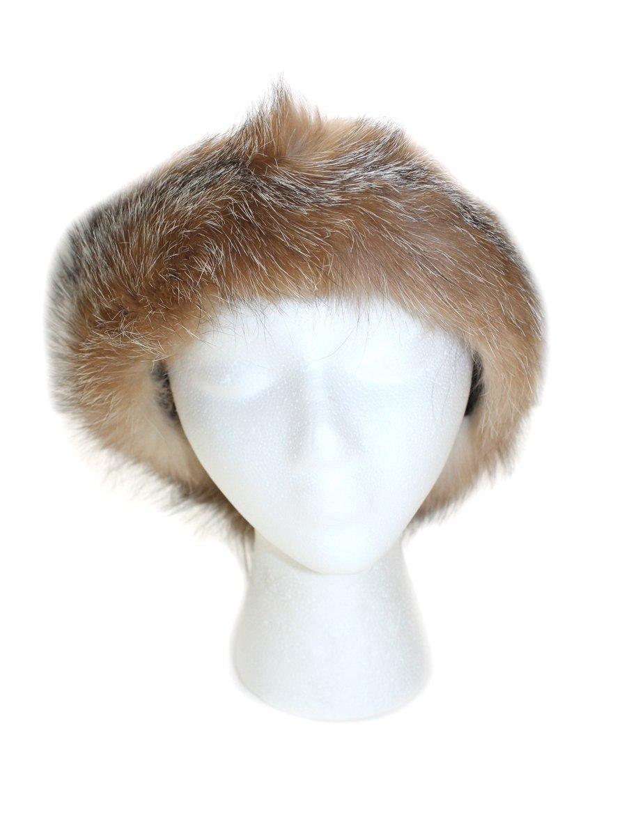 511255 New Crystal Dyed Fox Fur Headband Hat Collar Head Wrap Cute Accessory by Bergama
