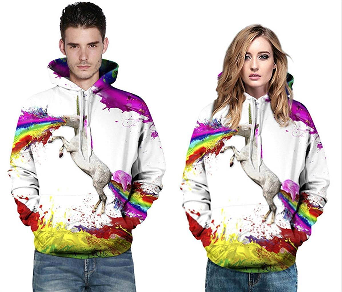 jeansian Unisexe Homme Femme Fille Gar?on Sweats a Capuche Pullover Hoodies Sweatshirt 3D Printed LBH001