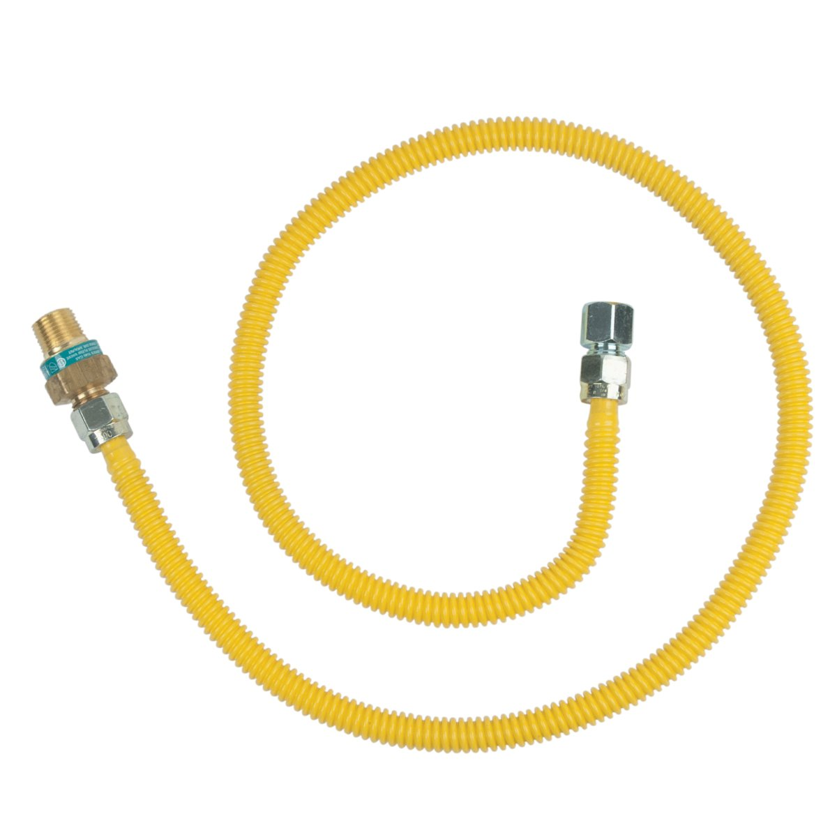 BrassCraft CSSD45R-48 P Safety PLUS Gas Appliance 1/2'' OD Connector with 1/2'' MIP EFV x 1/2'' FIP x 48''