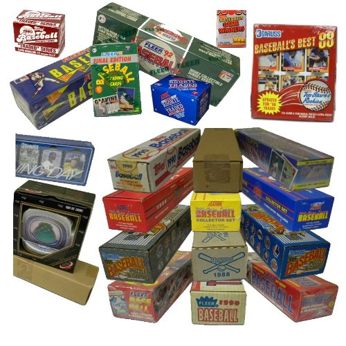 - Three Assorted Vintage Baseball Card Sets from the 80's & 90's. At least One Set is 25 Years Old! Over 1000 cards!! Sets contain many Rookies & Stars. Includes such manufacturers as Topps, Donruss, Fleer, Score, Upper Deck, plus many more.