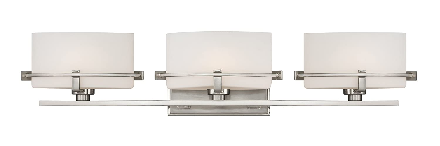 Quoizel NN8603BN Nolan 26.5-Inch W 3 Light Bath Wall Light Fixture