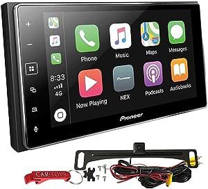 Pioneer MVH-1400NEX Apple CarPlay Car Stereo Bundle with Voxx Backup Camera. 6.2