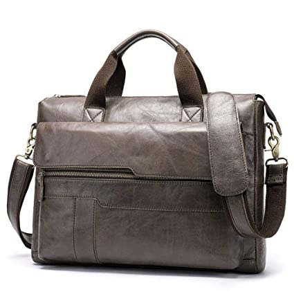 33881f42824c Amazon.com: cjc Men's Tote First Layer Leather Business Briefcase ...