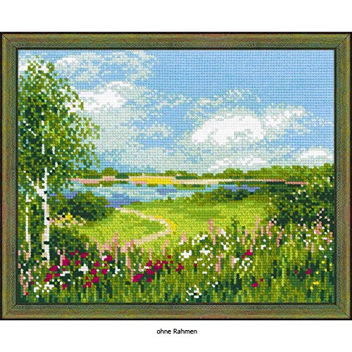 """RIOLIS Path To The Lake Counted Cross Stitch Kit-11.75""""X9.5"""""""