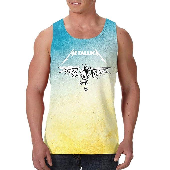 LixuA Mens Metallica All-Over Print Tank Tops Slim Fit Muscle Shirt