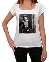 Marie Curie, tee shirt femme, imprimé célébrité,Blanc, t shirt femme,cadeau