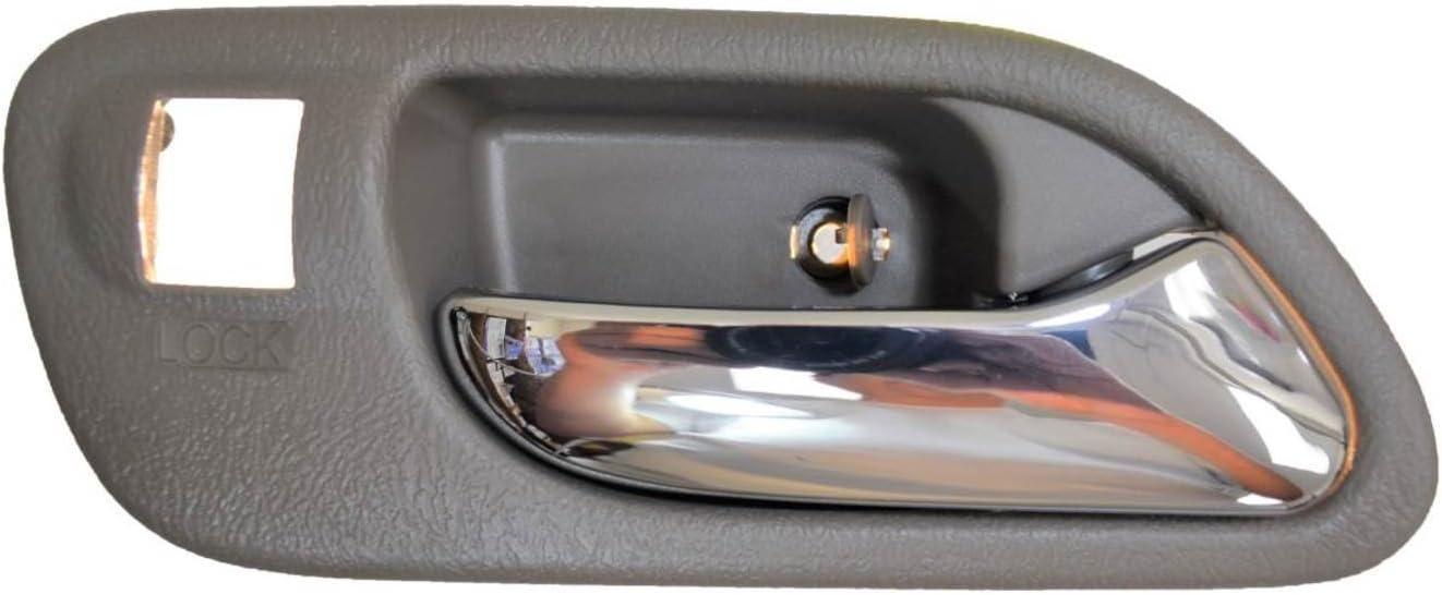 Interior Inner Inside Door Handle Beige Silver Lever Passenger Side Front