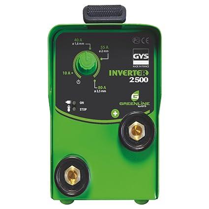 GYS Inverter 2500 - Kit de soldadura (2300W, 230V), color: verde: Amazon.es: Industria, empresas y ciencia