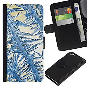 [Neutron-Star] Modelo colorido cuero de la carpeta del tirón del caso cubierta piel Holster Funda protecció Para Apple (4.7 inches!!!) iPhone 6 / 6S [Crystal Sun Azul Blanco Invierno]