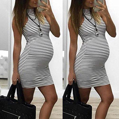 SHOBDW Forme a Mujeres los embarazos del Verano Que cuidan al bebé para la Maternidad de la Raya Cómoda Mini Vestido Diario Atractivo: Amazon.es: Ropa y ...