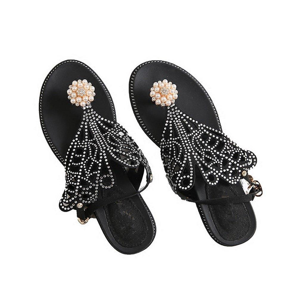 BAJIAN-LI Hohe heelsdamen Sandalen, Sommer Peep-toe Halbschuhe Damen Flip Flops Sandalen Schuhe B07D77ZKQR Tanzschuhe Einfach zu bedienen
