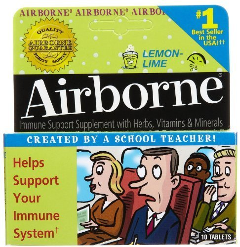 - Airborne - AIRBORNE LEMON-LIME EFFERVESCENT, 10 tablets [Health and Beauty] by Airborne