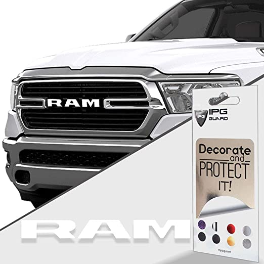 IPG for 2019-2020 Ram 1500 Grille Emblem Overlay Decal Stickers Emblem Do it Yourself Stickers Set Personalize Your RAM