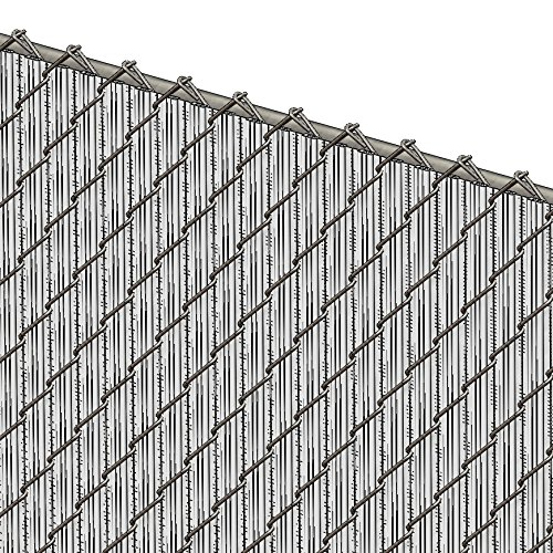 Chain Link Vinyl Winged Privacy Slats 6' High ()