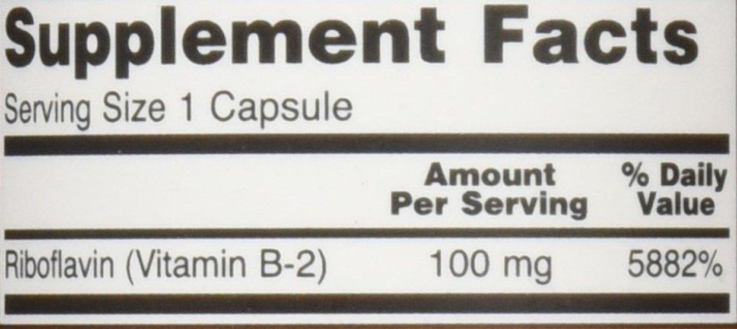 NOW Vitamin B 2 Riboflavin Capsules Image 1