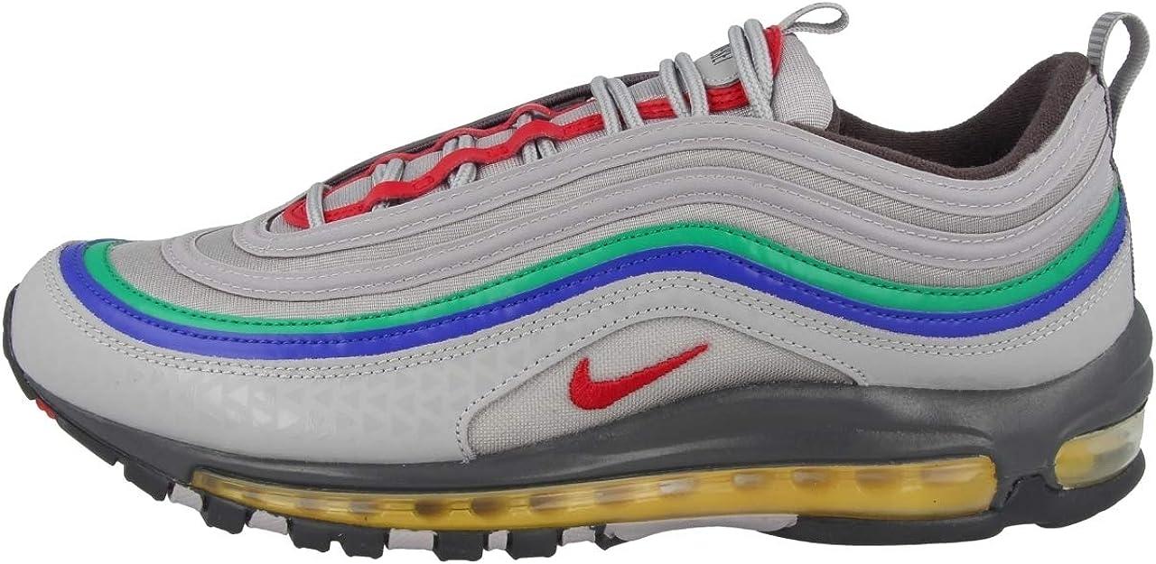 Nike Air Max 97 Qs Ci5012-001 - Zapatillas deportivas para hombre, Gris (Atmósfera Gris/Habanero Rojo), 42 EU: Amazon.es: Zapatos y complementos