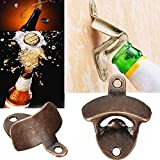 Vintage Antique Cast Iron Wall Mounted Bar Beer Glass Bottle Cap Opener Kitchen Tools Barware