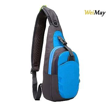 nueva estilos 33046 4e4f9 Mochila cruzada impermeable WeiMay. Mochila de hombro, bolsa de viaje, para  senderismo, gimnasio, deportes al aire libre. Mochila cruzada unisex.
