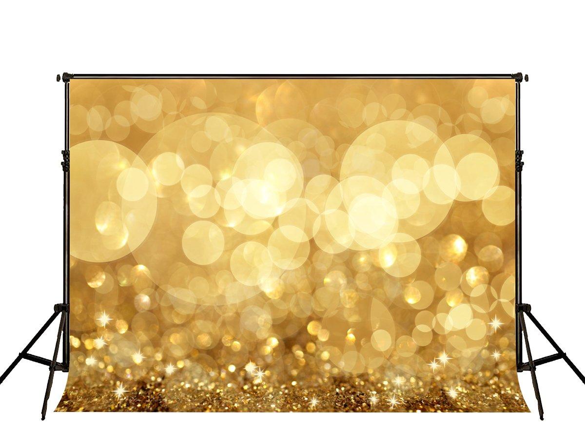 KateHome PHOTOSTUDIOS 2,2/×1,5m Fondo de fotograf/ía Dorado c/írculo de Fondos Amarillo Brillo tel/ón Fondo fotograf/ía Boda beb/é Fondo Estudio