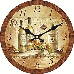 MEISTAR Vintage Creative Quartz Movement Clock Home Décor Morden 16 Inch Silent Sweep Wall Clock Kitchen Bar Great Gift Idea