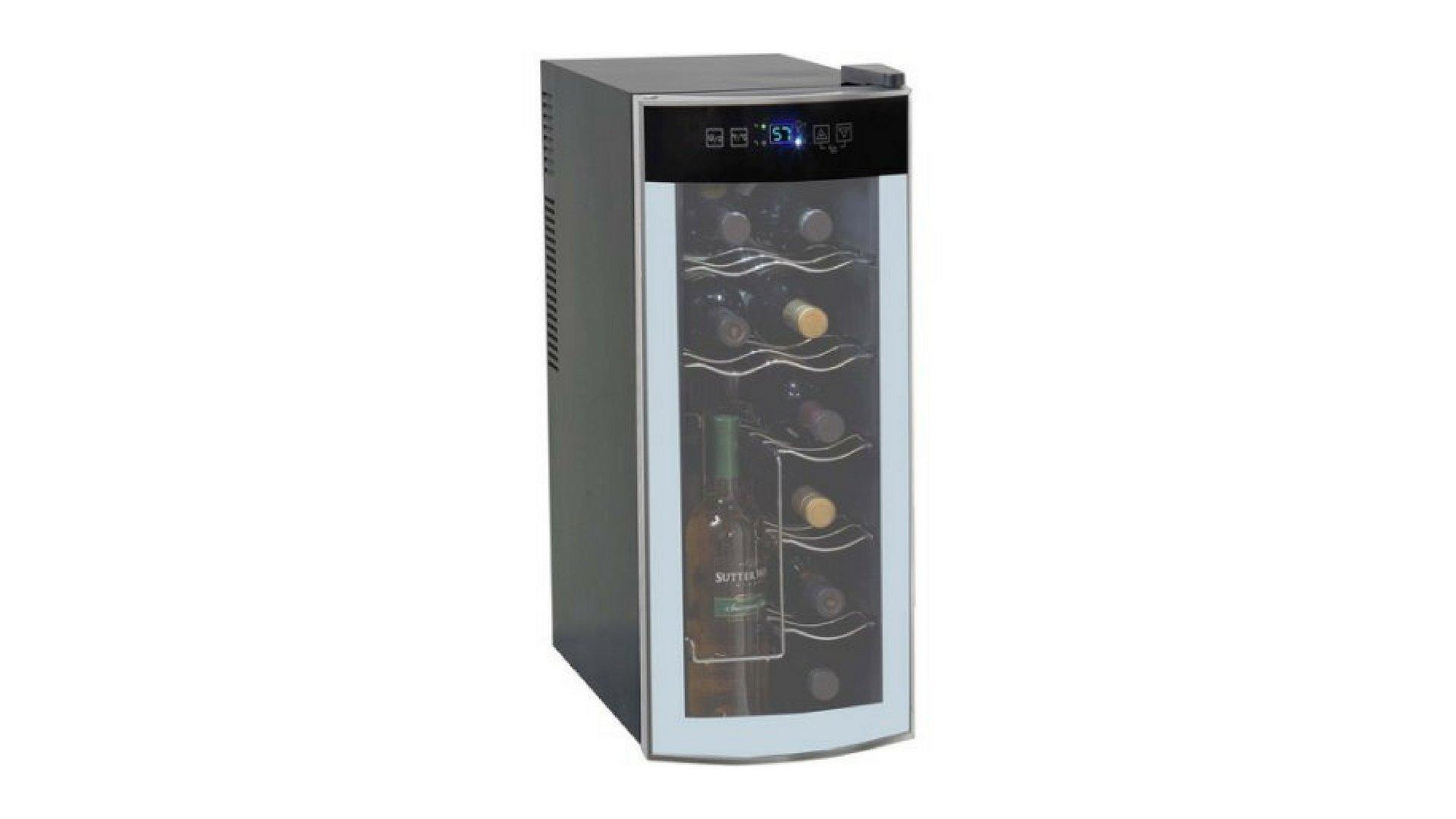 12-Bottle Avanti Quiet Thermoelectric Counter-top Wine Cooler - Stores Open Bottles!