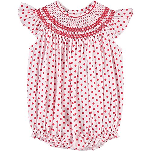 Carraige Boutique Chevron Smock Bishop Bubble, - Bubble Smocked