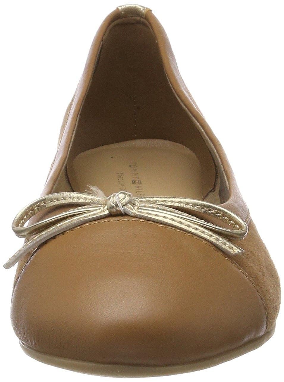 Tommy Hilfiger Damen Basic Kid Kid Kid Suede Ballerina Geschlossene Ballerinas Braun (Summer Cognac 929) a858de