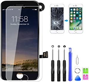 "for iPhone 7 Plus Screen Replacement Touch Screen LCD Digitizer Display Assembly with Proximity Sensor, Ear Speaker, Front Camera and Free Repair Tools (iPhone 7 Plus Screen Black 5.5"")"