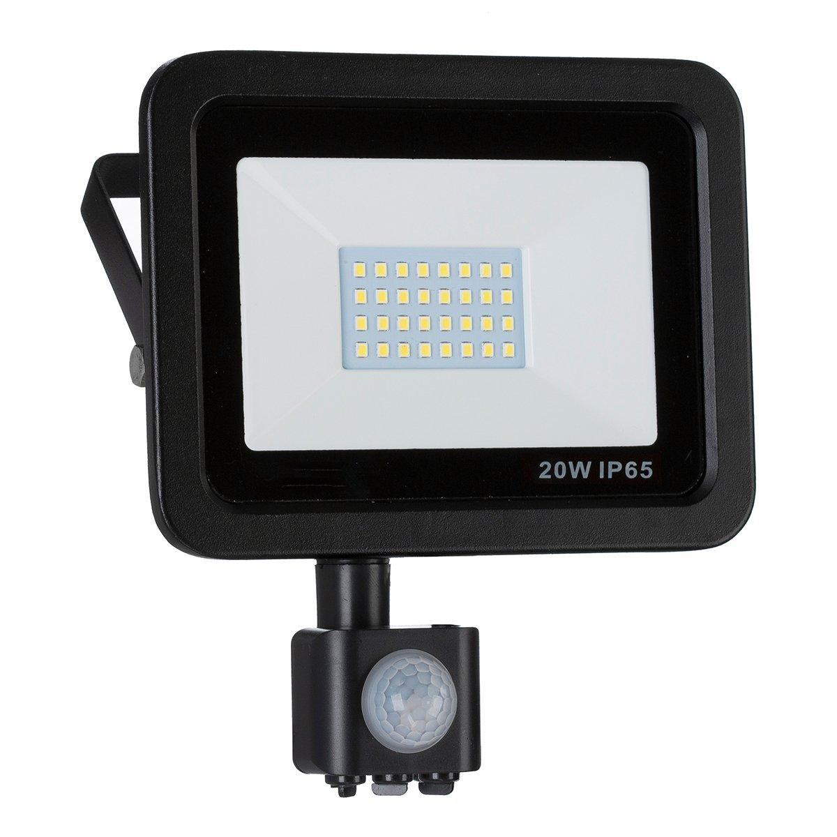 LED Strahler, LED Fluter, SLIM 50 Watt Kaltweiss 6000K LED Flutlicht, 50W 4500 Lumen Ersetzt 500 Watt, 220-240V, LumenTEC (50W Kaltweiss) [Energieklasse A+]