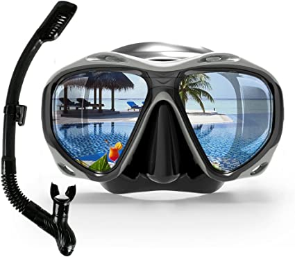 Snorkel Tube Glass Lens  Swimming Snorkeling Mouthpiece Underwater Pool