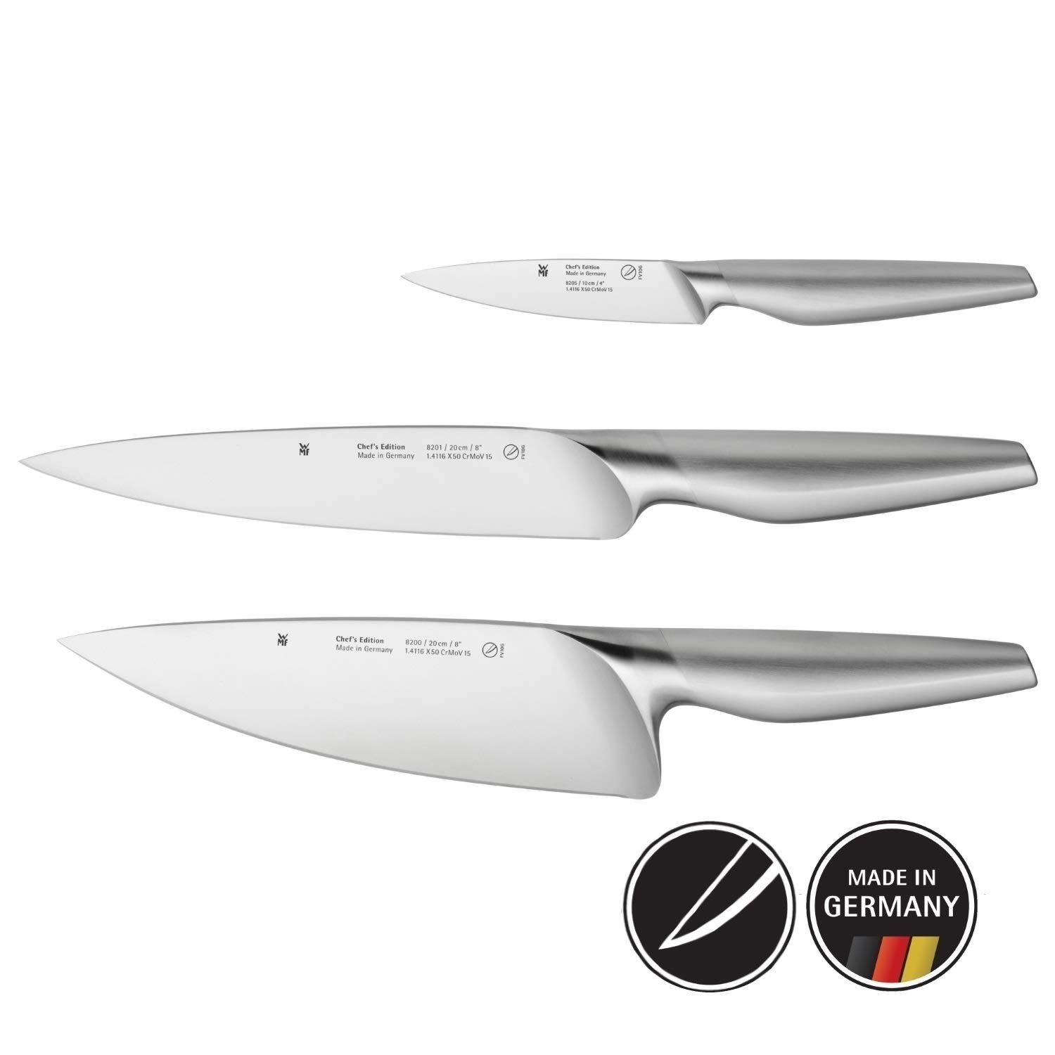 Fantastic Wmf Set Of Kitchen Knives Chef S Edition 3 Pieces Made In Germany Interior Design Ideas Truasarkarijobsexamcom