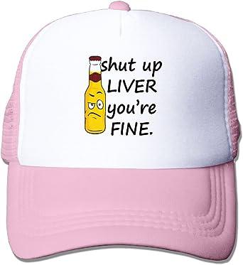 Shut Up Liver You/â/€re Fine Mesh Baseball Caps Girls Adjustable Trucker Hat Sky Blue