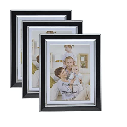 3 picture frames on wall living room giftgarden 5x7 picture frames wall display photo mat 6x8 without mat black amazoncom