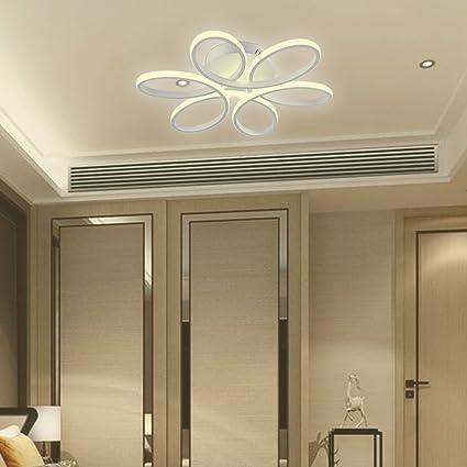 Lámpara LED de Techo - HomeLava 50W Lámpara de Techo Moderna 220V LED Luz de Techo para Salón/Comerdor/Habitaciones,Color Blanco (Blanco Cálido)