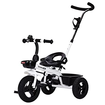 DACHUI triciclos para niños, bicicletas, carritos de bebé, coches de niños, bicicletas, carritos de bebé (Color : Blanco): Amazon.es: Deportes y aire libre