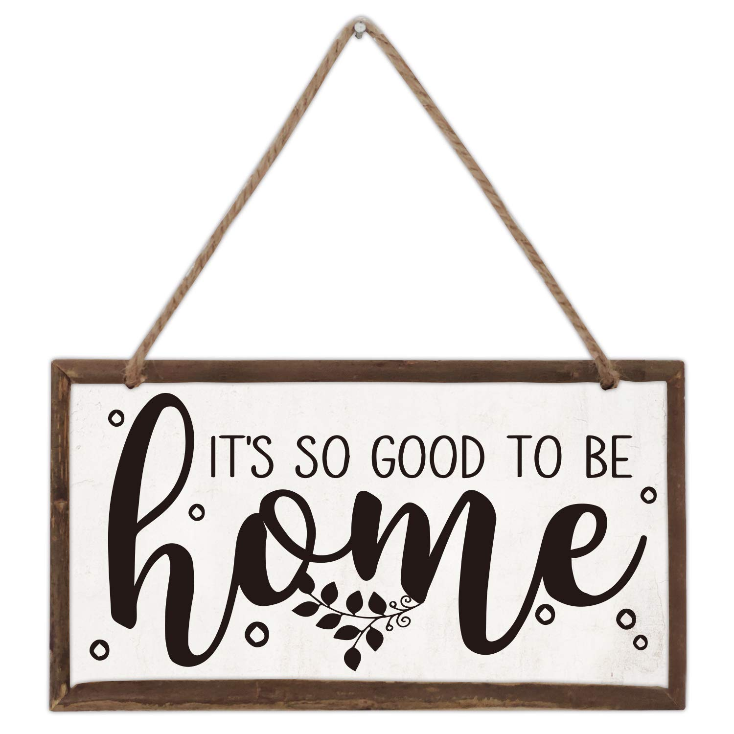 akeke It's So Good to Be Home Wood Farmhouse Frame Hanging Wall Art Sign Plaque Decor 12 x 6 Inch