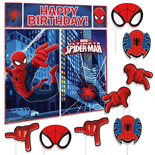 Marvel Spider-Man Premium Photo Booth Birthday Party Fun Props Kit