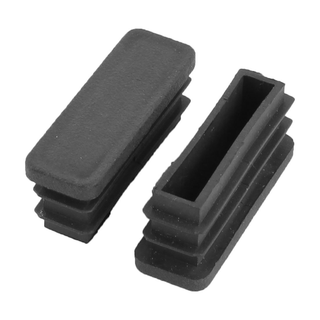 DealMux Plastic Rectangular Shaped Office Furniture Table Chair Leg Foot Tube Insert 20 Pcs Black DLM-B01MFBHRPC