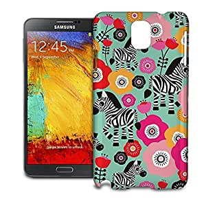 Phone Case For Samsung Galaxy Note 3 N9005 - Zebra Blossoms Green Protective Designer