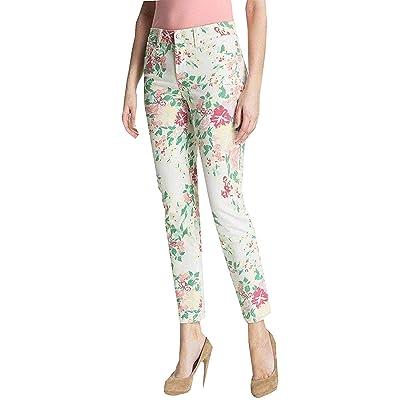 NYDJ 12P Jeans Women's Audrey Ankle Leg Floral Pants Multi Color Petite Not Your Daughters Jeans ... at Women's Jeans store