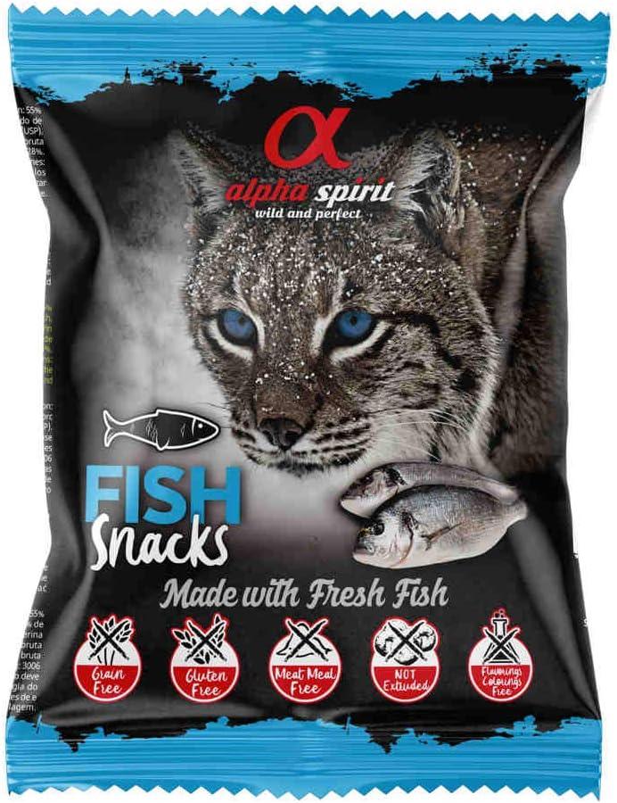 ALPHA SPIRIT Snack Gato Sabor Pescado 24 und. X 50 gr