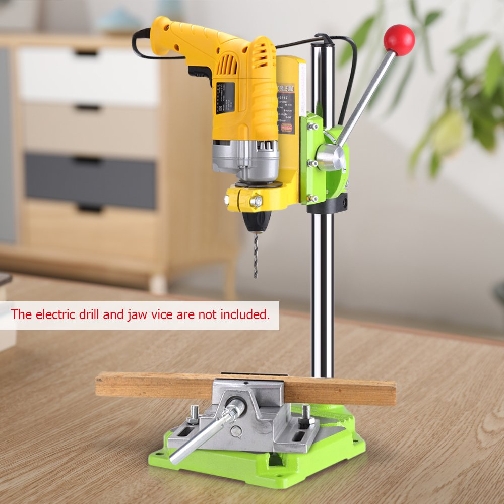 KKmoon High Precision Electric Power Drill Press Stand Table Rotary Tool Workstation Drill Workbench Repair Tools Clamp Work Station with 0-90 Degree Rotating Fixed Frame for Drilling Collet Table by KKmoon (Image #6)