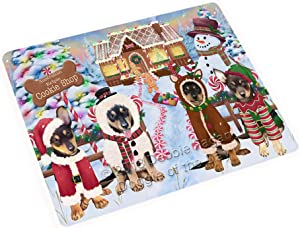 "Holiday Gingerbread Cookie Shop Australian Kelpies Dog Large Refrigerator/Dishwasher Magnet RMAG98856 (18"" x 24"")"