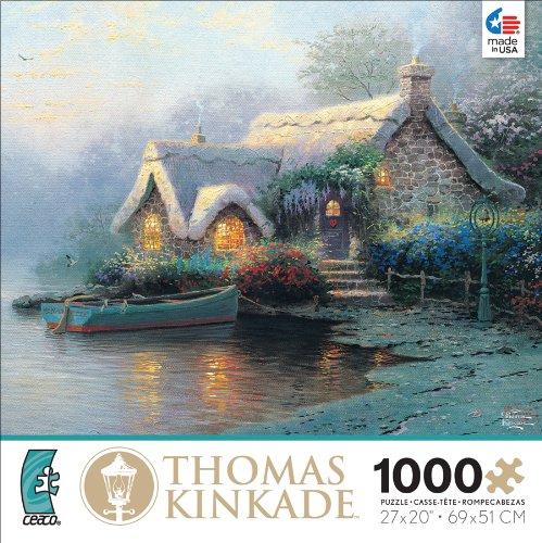 Ceaco Thomas Kinkade Lochaven Cottage Jigsaw Puzzle